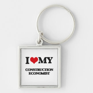 Amo a mi economista de la construcción llavero personalizado
