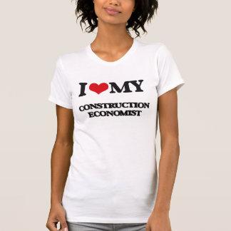 Amo a mi economista de la construcción camisetas