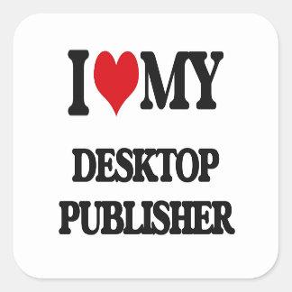 Amo a mi editor de escritorio etiqueta