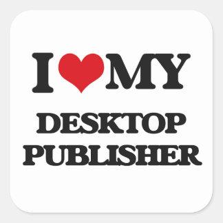 Amo a mi editor de escritorio pegatina