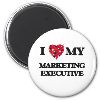 Amo a mi ejecutivo de marketing imán redondo 5 cm