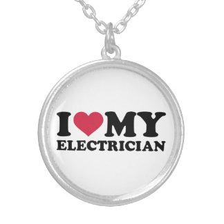 Amo a mi electricista colgante redondo