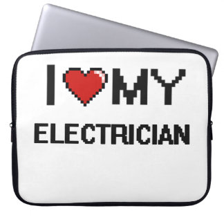Amo a mi electricista fundas computadoras