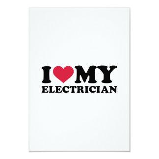 """Amo a mi electricista invitación 3.5"""" x 5"""""""