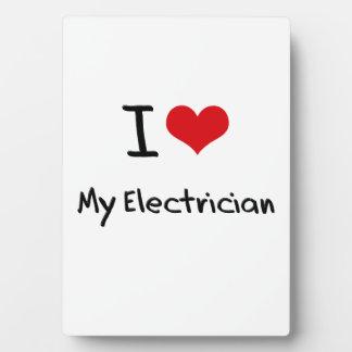 Amo a mi electricista placa de plastico