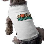 Amo a mi empollón camisa de perro