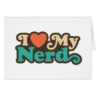 Amo a mi empollón tarjetas