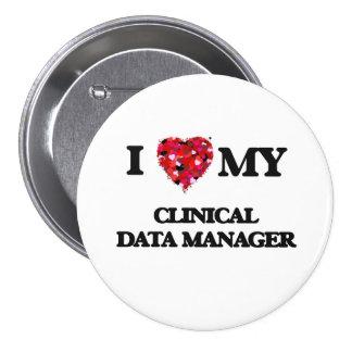 Amo a mi encargado clínico de los datos pin redondo 7 cm