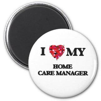 Amo a mi encargado de cuidados en casa imán redondo 5 cm