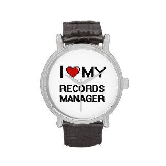 Amo a mi encargado de expedientes reloj de mano