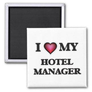 Amo a mi encargado de hotel imán cuadrado