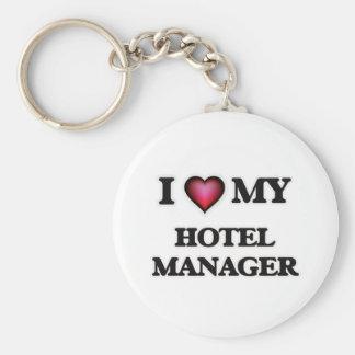 Amo a mi encargado de hotel llavero redondo tipo pin