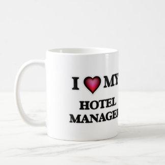 Amo a mi encargado de hotel taza clásica