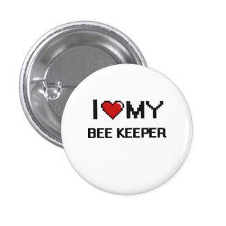 Amo a mi encargado de la abeja pin redondo 2,5 cm