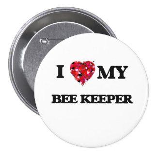 Amo a mi encargado de la abeja pin redondo 7 cm