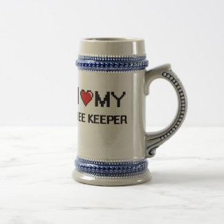 Amo a mi encargado de la abeja jarra de cerveza