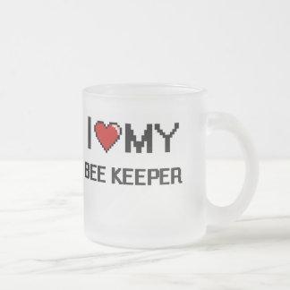 Amo a mi encargado de la abeja taza de cristal