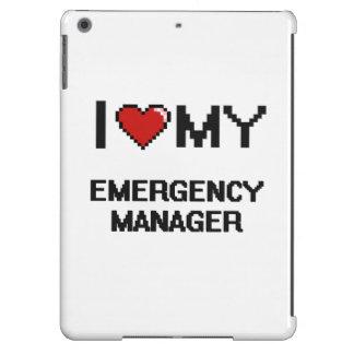 Amo a mi encargado de la emergencia funda para iPad air