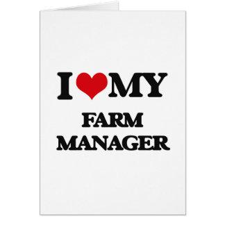 Amo a mi encargado de la granja tarjetas