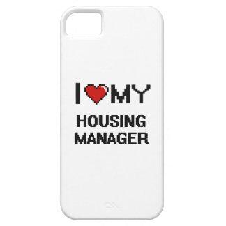 Amo a mi encargado de la vivienda iPhone 5 carcasa