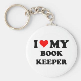 Amo a mi encargado de libro llaveros personalizados