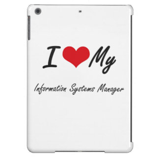 Amo a mi encargado de los sistemas de información funda para iPad air
