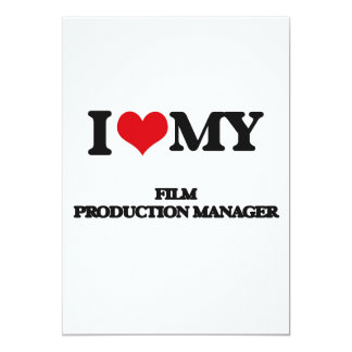 """Amo a mi encargado de producción de la película invitación 5"""" x 7"""""""