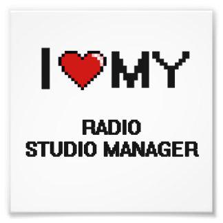 Amo a mi encargado de radio del estudio fotografía