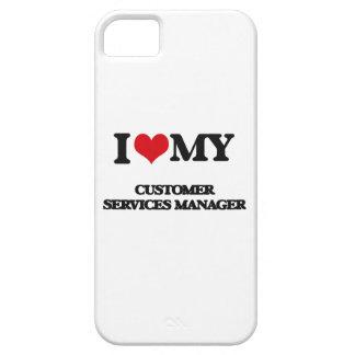 Amo a mi encargado de servicios de atención al iPhone 5 carcasa