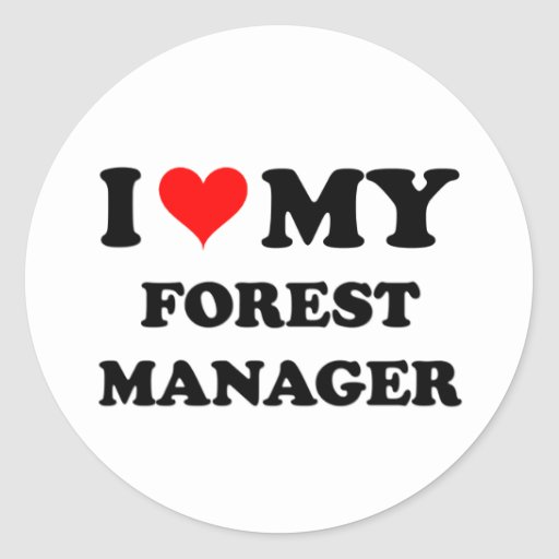 Amo a mi encargado del bosque etiqueta