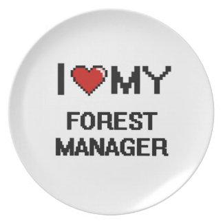Amo a mi encargado del bosque platos de comidas