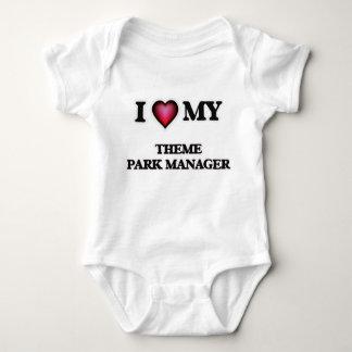 Amo a mi encargado del parque temático body para bebé