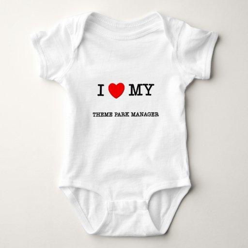 Amo a mi ENCARGADO del PARQUE TEMÁTICO T-shirt