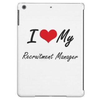 Amo a mi encargado del reclutamiento funda para iPad air