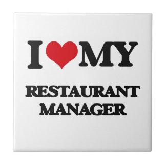 Amo a mi encargado del restaurante tejas