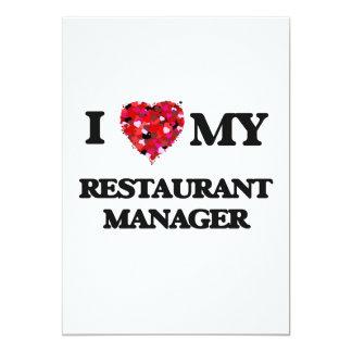 Amo a mi encargado del restaurante invitación 12,7 x 17,8 cm