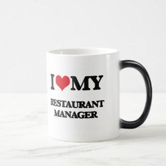 Amo a mi encargado del restaurante taza