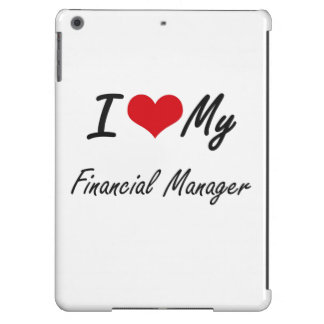 Amo a mi encargado financiero funda para iPad air