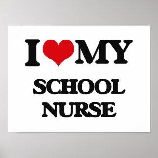 Amo a mi enfermera de la escuela posters