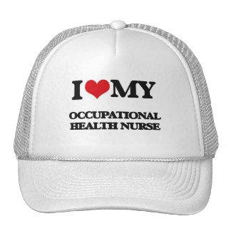 Amo a mi enfermera de medicina del trabajo gorras de camionero