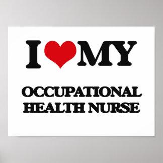 Amo a mi enfermera de medicina del trabajo impresiones