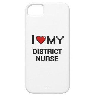 Amo a mi enfermera del distrito funda para iPhone 5 barely there