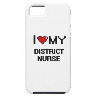 Amo a mi enfermera del distrito funda para iPhone 5 tough