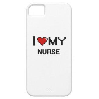 Amo a mi enfermera iPhone 5 carcasas
