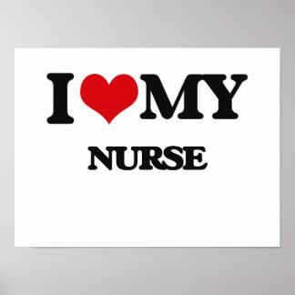 Amo a mi enfermera poster