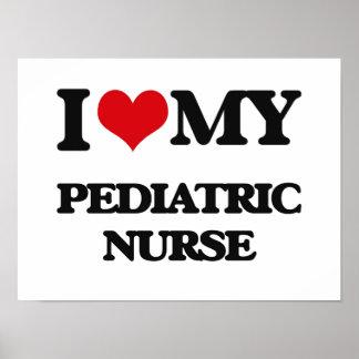Amo a mi enfermera pediátrica impresiones