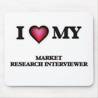 Amo a mi entrevistador del estudio de mercados alfombrilla de raton