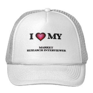 Amo a mi entrevistador del estudio de mercados gorros
