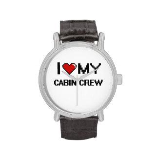 Amo a mi equipo de la cabina relojes de mano