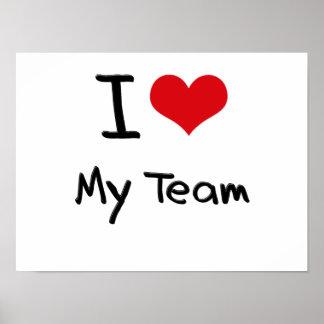 Amo a mi equipo posters
